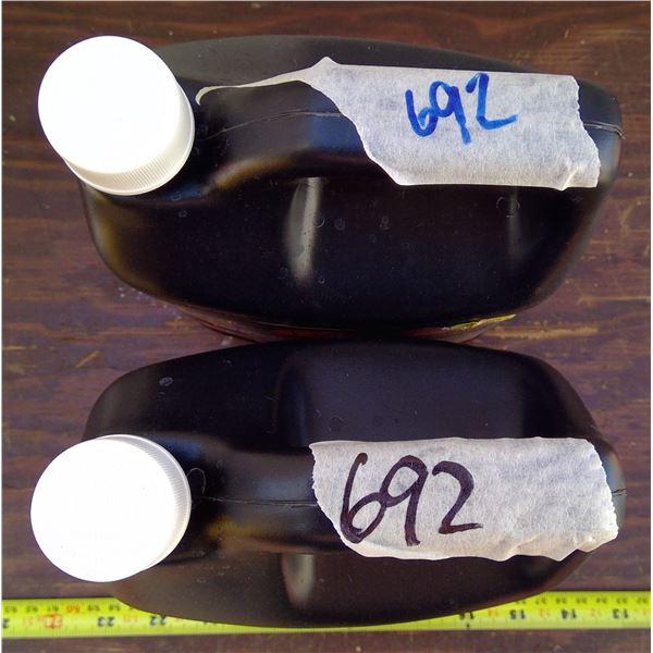 2 Jugs Black Fogging Chemical - ALL UNOPENED NEW