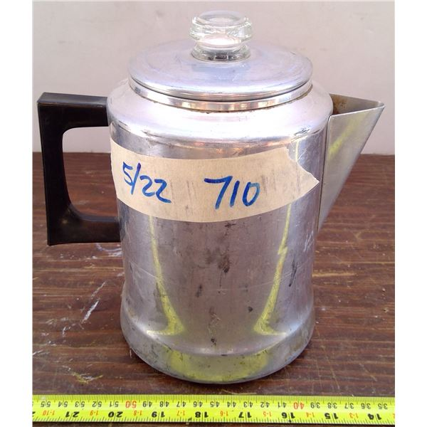 1 Coffee Pot with Glass Lid - made in USA