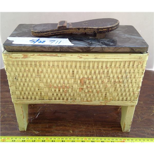 Antique Shoe Box with Lots of Treasures