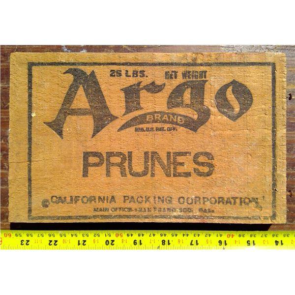 1 Argo Prune Box Wood Lid