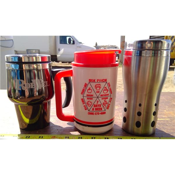 1 Cameco Cup, 1 Six Pack Mug, 1 Rowbell Mug