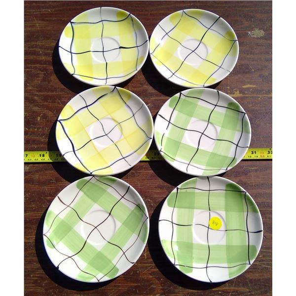 "6 - 6"" Saucers - Medecine Hat Potteries"