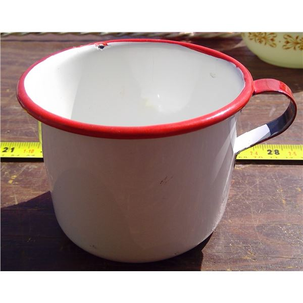 1 - 4  Tin Cup - red & white