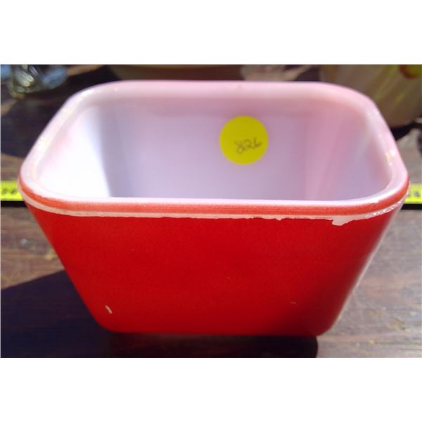 1 Red Square Pyrex Butter Dish - no lid