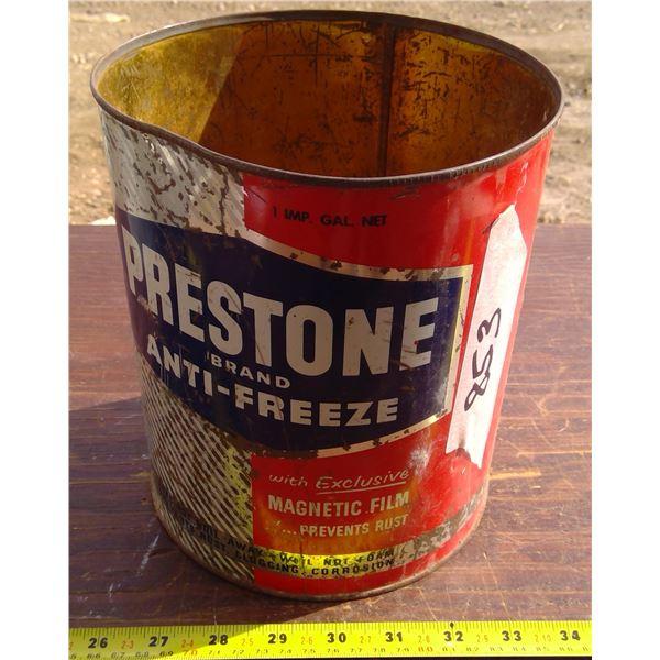 Prestone Antifreeze Tin