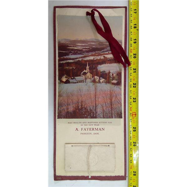 Parkside 1930 Calendar