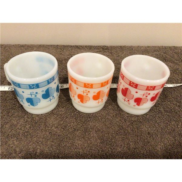 Lot of 3 Fire King mugs, no stains, chips or cracks - 2 photos