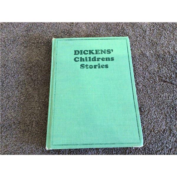 Antique book, Dicken's Childrens Stories - 4 photos