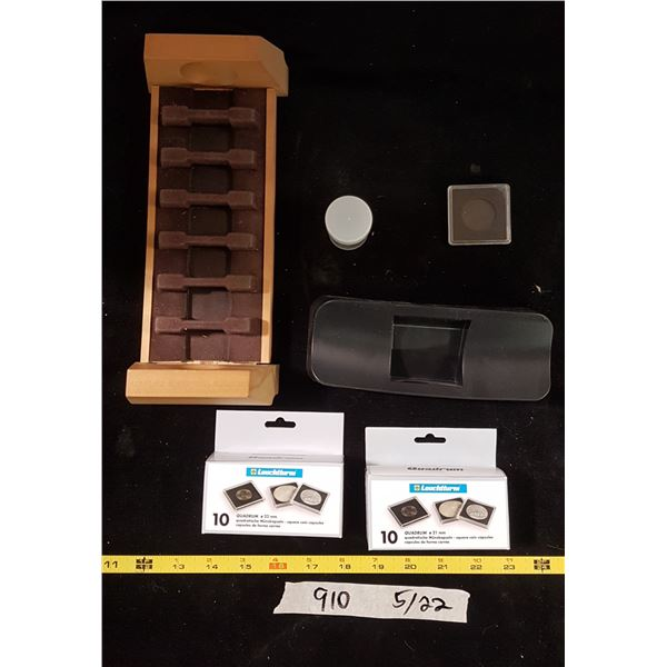 Lot Coin Collecting Supplies