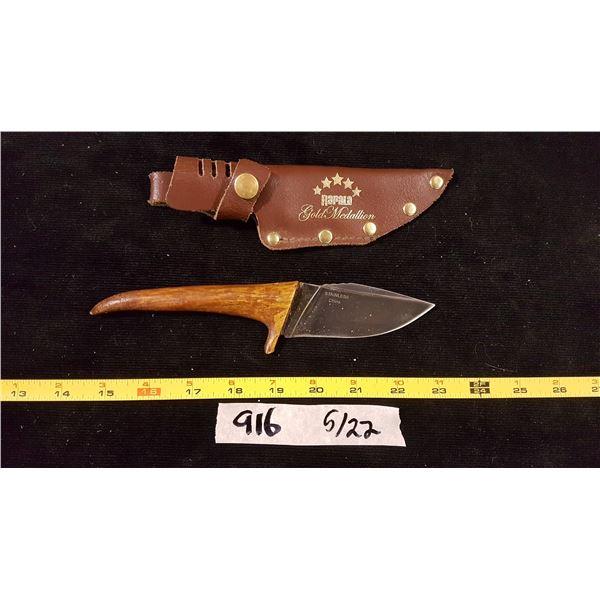 Antler Handle Knife & Sheath