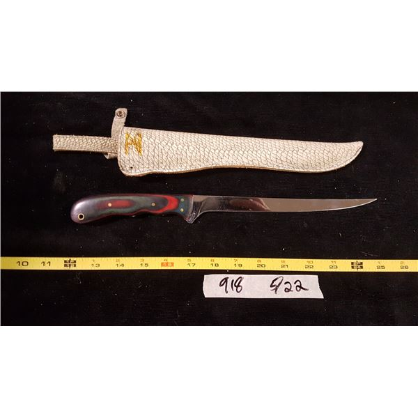 Filleting Knife With Fish Scale Sheath