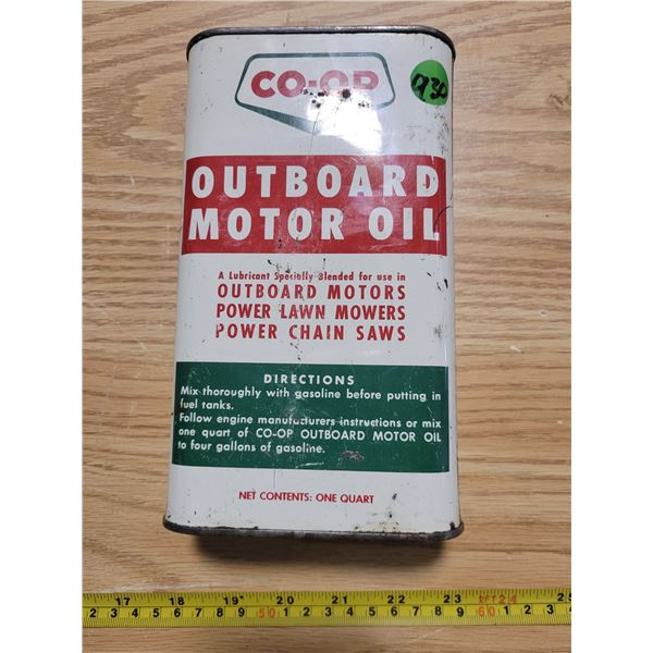 COOP outboard motoe oil quart can