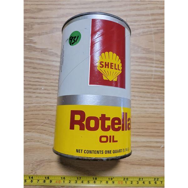 Full Shell oil quart can