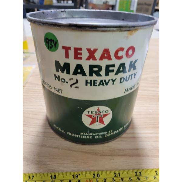 Texaco 5 lb grease can