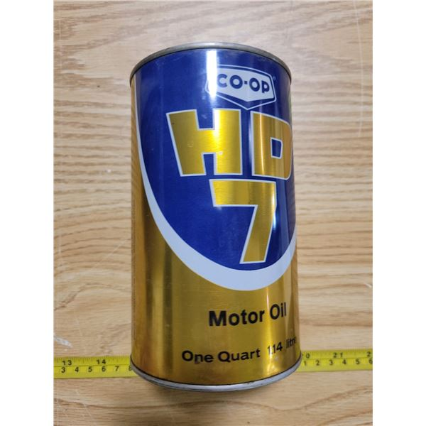 Empty COOP quart oil can (minty)