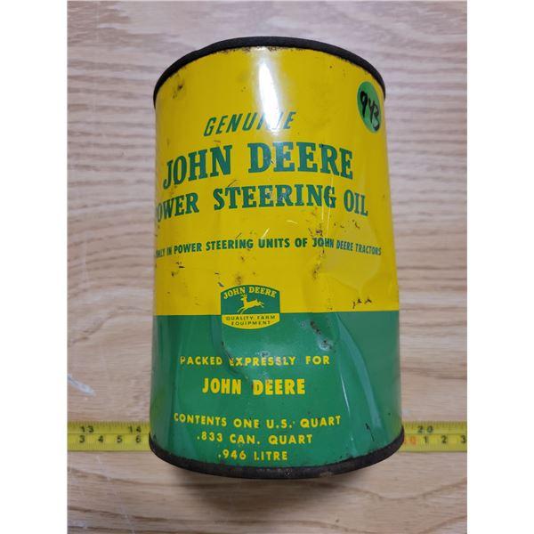 Empty John Deere U.S. quart oil can
