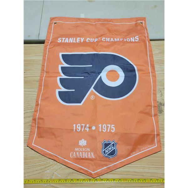 "Nylon Philadelphia Flyers banner 35"" X 23"""