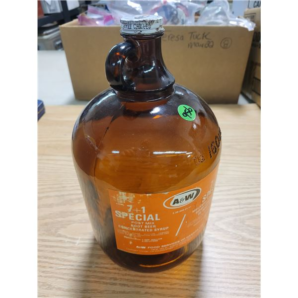 A & W gallon syrup root beer jug