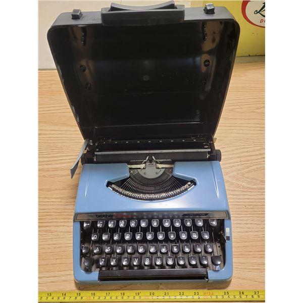Blue Brother typewriter