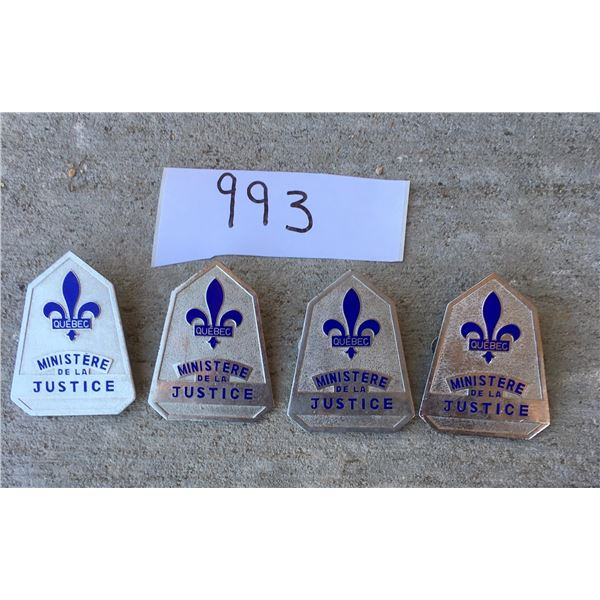 Quebec ministry of justice badges (4)