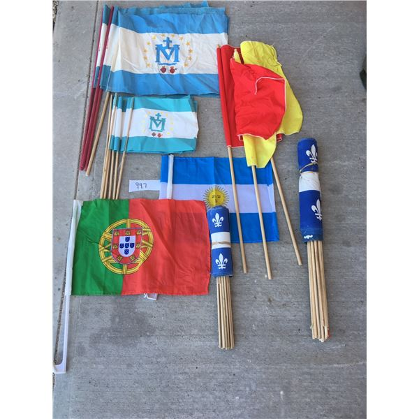 45 assorted flags