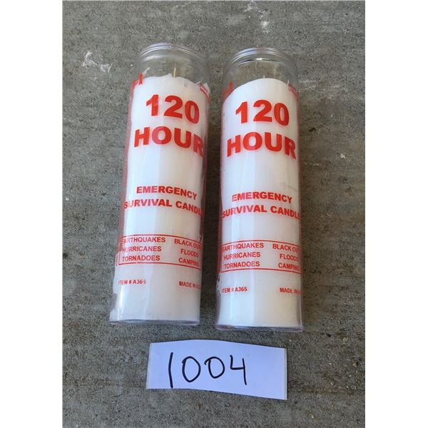 2 x 120 hour Glass survival candles, Made in USA