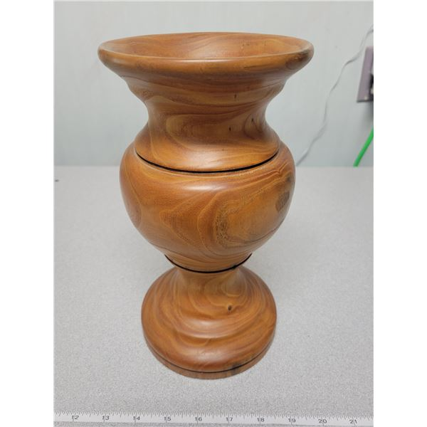 """10.5"""" wooden vase"""