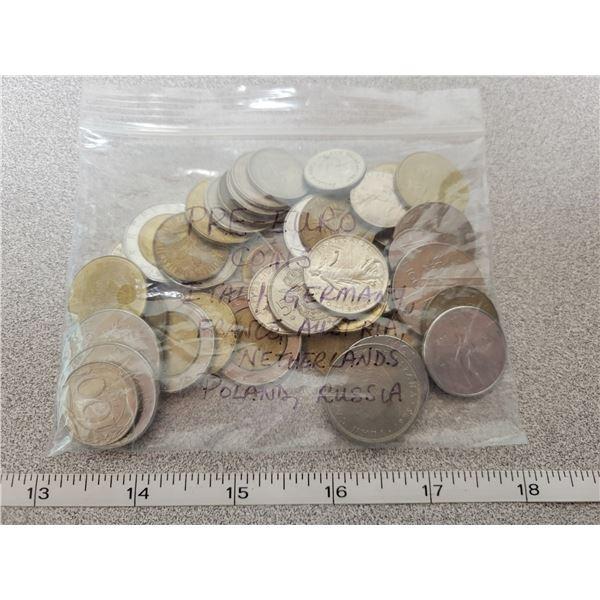 Pre-Euro coins - Italy, Germany, France, Austria, Poland, Russia, Holland