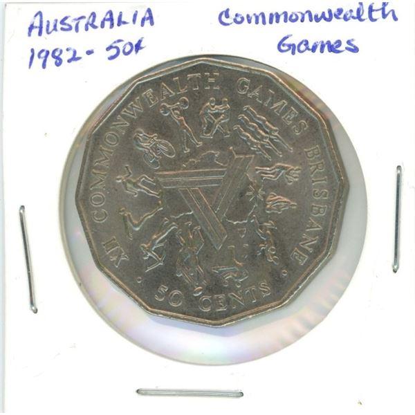 1982 Austrailia 50¢ commonwealth games