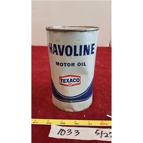 Texaco Oil (Tin Full)