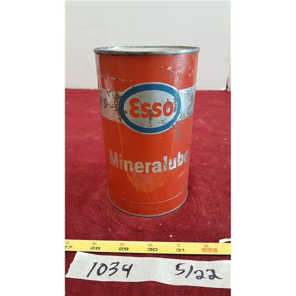 Esso Mineralube Oil (Tin Full)