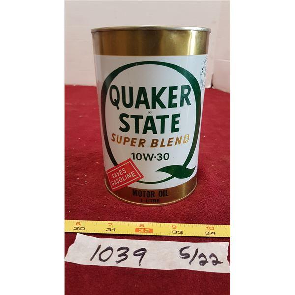 Quaker State Oil (Tin Full)