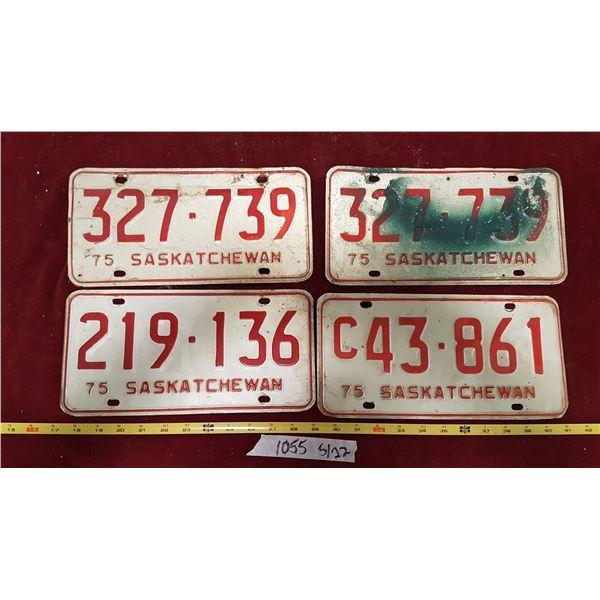 4 1975 Sask. Plates