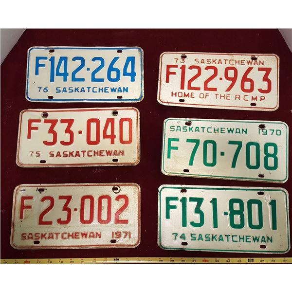 6 1970 - 1976 Sask. Plates