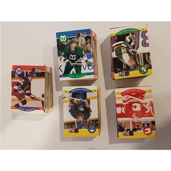 Lot of 680+ 1990 Proset NHL Hockey Cards – Unsorted