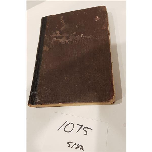 1885 German Hymnal Book Glauben Harfe