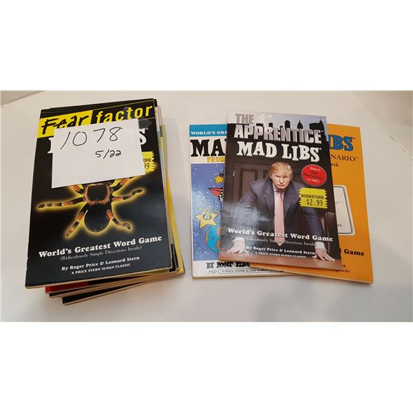 Bundle of Classic MAD LIBS Booklets X15 – 3 of 15 are lightly marked