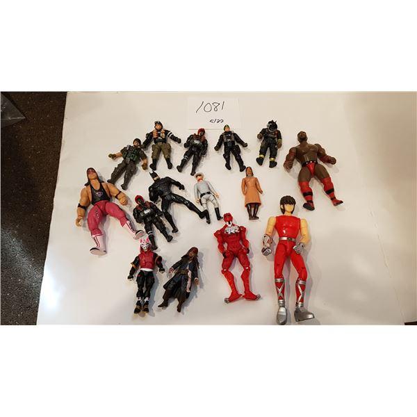 "15X Action Figure Bundle – Brett ""Hitman"" Hart, 80's Lone Ranger and others"