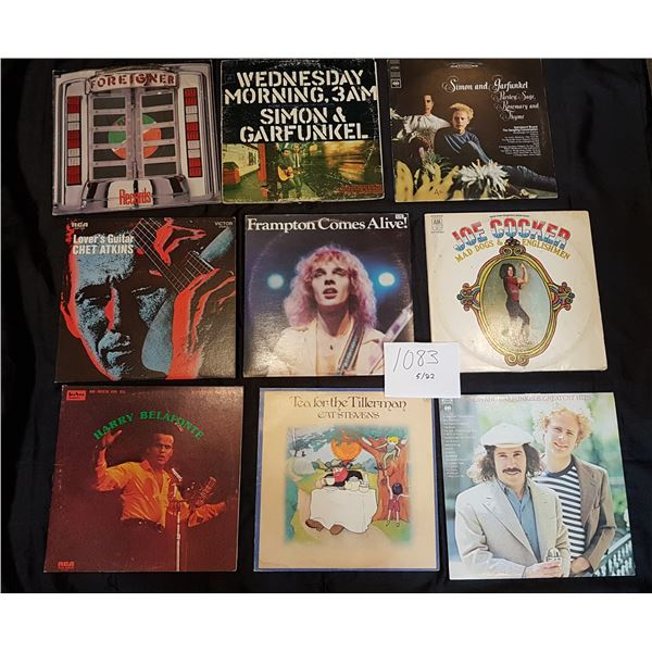 9 Classic Rock/Folk Record/Vinyl Bundle (3X 2LP and 6 X LP)