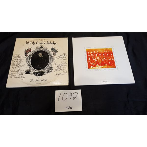 2X Old Time Folk Albums – Will the Circle Be Unbroken 3LP Collection by Various Country Artists and
