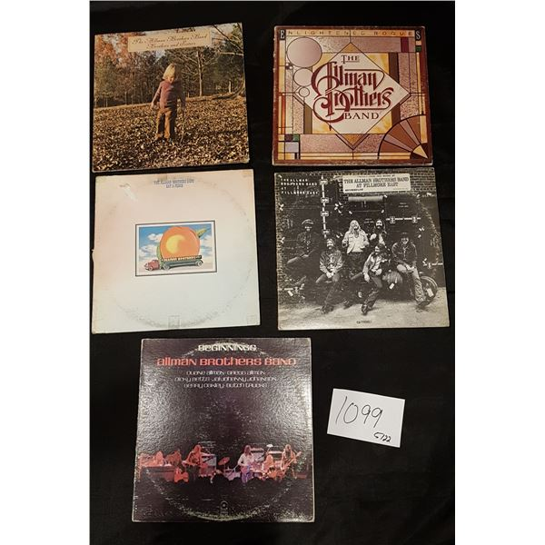 5X Allman Brothers Albums/Records Vinyl (2X 2LP and 2X LP)