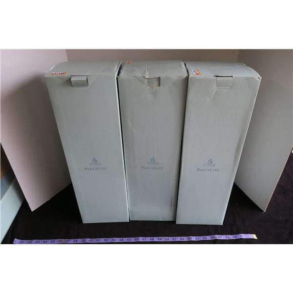 #1107 - Partylite Gaia Branch Metal Sconce Set of 3 - In Boxes Never Unused - (3 Boxes)