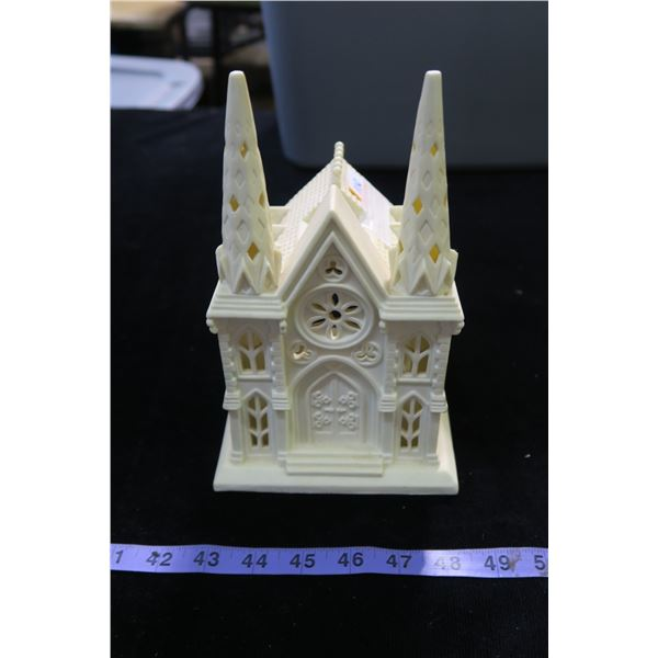 #1110 - Partylite Ivory Bisque Church - No Box, Used.
