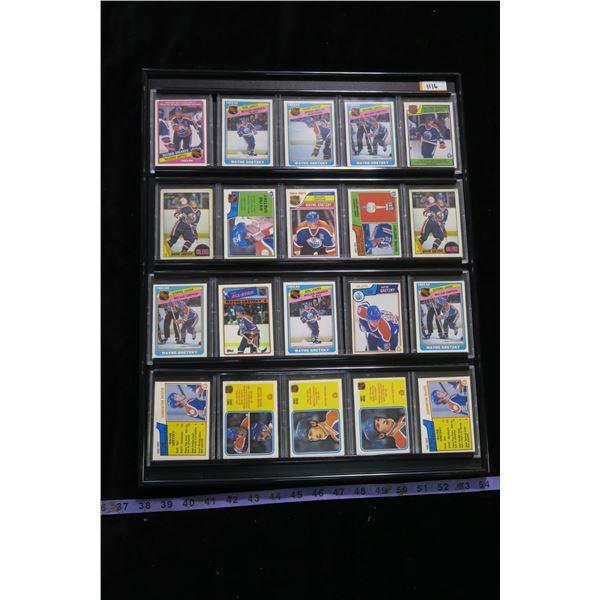 #1116 - Wayne Gretzky Framed Hockey Cards (20 Cards)