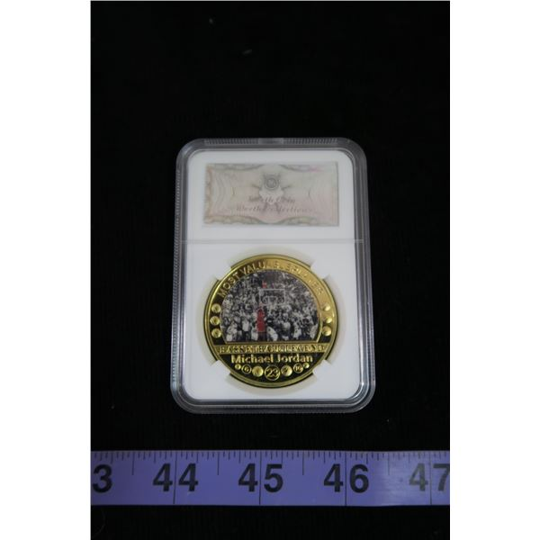 #1122 - Michael Jordan MVP Coin Only 1000 Made Worth Collection
