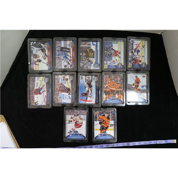 #1127 - Upper Deck Winter Classic 5X7 Box Topper Cards (12 in Protective Cases)