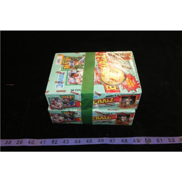 #1142 - Lot of 2 Boxes of 36 Packs - 1991 Donruss Series 2 Baseball Cards Sealed - Find Sandberg Aut