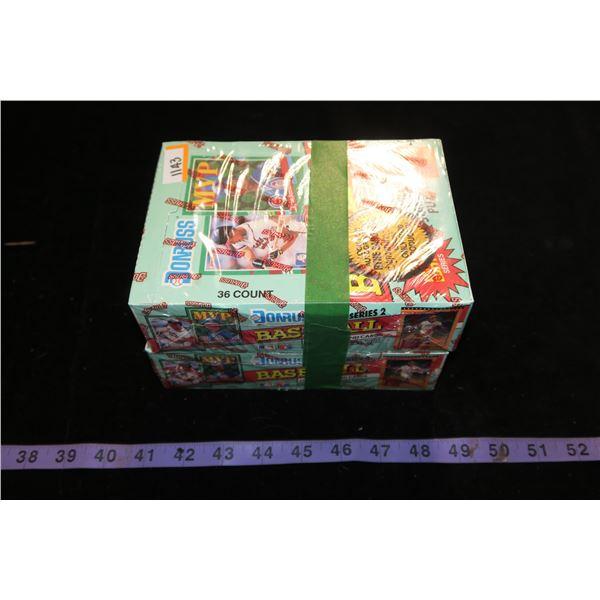 #1143 - Lot of 2 Boxes of 36 Packs - 1991 Donruss Series 2 Baseball Cards Sealed - Find Sandberg Aut