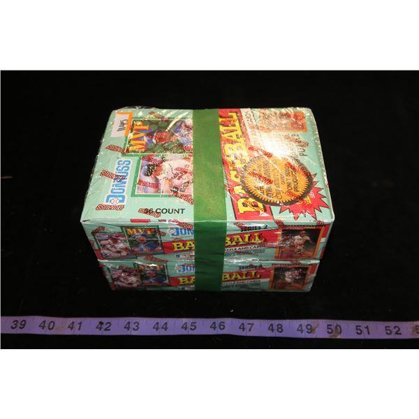 #1145 - Lot of 2 Boxes of 36 Packs - 1991 Donruss Series 2 Baseball Cards Sealed - Find Sandberg Aut