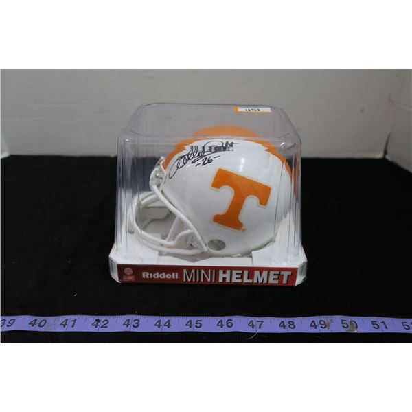 #1151 - Autographed Mini Helmet Willie Gault Tennessee Volunteers - Chicago Bears Schwartz Sports CO